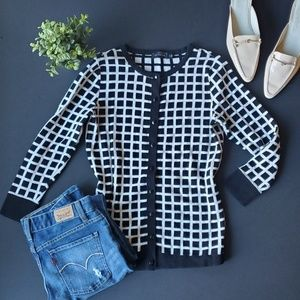 ⚘The Limited Black and White Cardigan 100% cotton